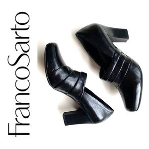 Franco Sarto black office shoes